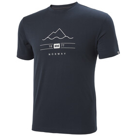 Helly Hansen Skog Graphic Camiseta Hombre, navy